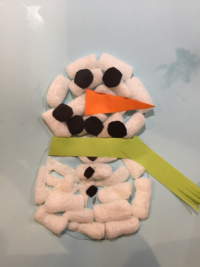 Snowman, peanut packaging