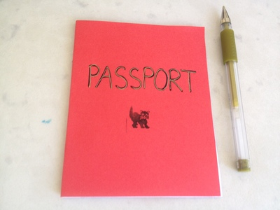 play passport starting materials, make a toy passport