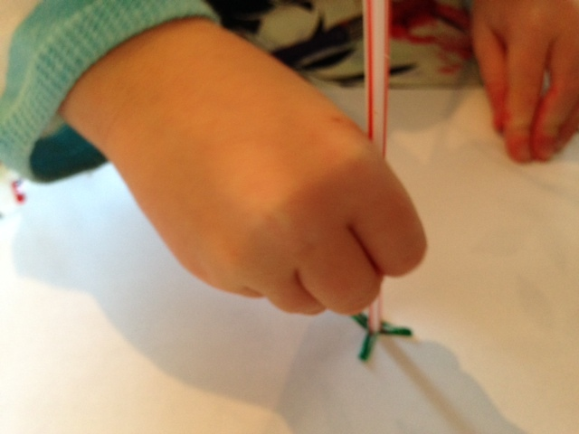 straw, paint, toddler, preschool, stamp, print  - Scratchy Straw Painting