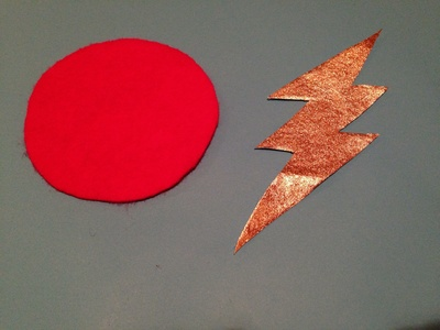 Superhero dress up, superhero badge, lightning superhero