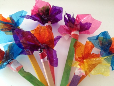 Sweet wrapper, cellophane, flower, candy