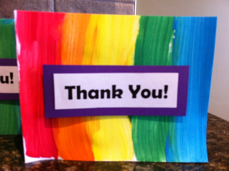 finished card  - Rainbow Thank You Card
