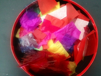 tissue paper and cellophane to make kids craft suncatcher
