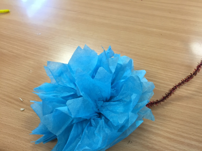Tissue, flowers, Mother's Day craft   - Tissue Paper Flowers
