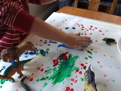 Toddler handprint, hand print paint, toddler hand print, paint print
