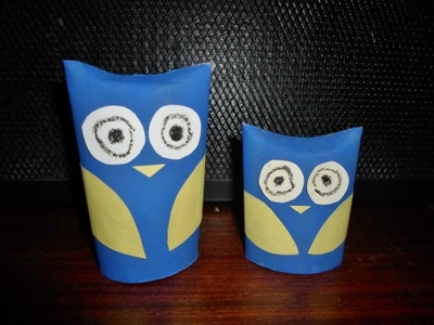 toilet paper roll owl family craft kids