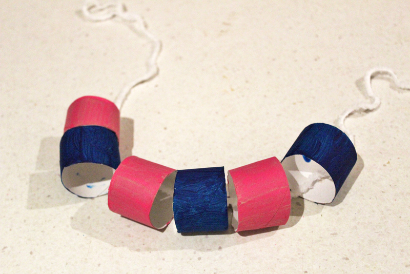 toilet rolls, necklace, jewellery, toilet roll necklaces, recycling, craft activities, kids craft  - Toilet Roll Necklaces