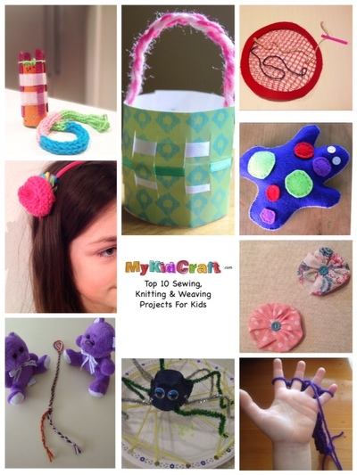 top 10 sewing knitting weaving projects for kids, sewing projects kids, weaving projects kids, knitting projects kids