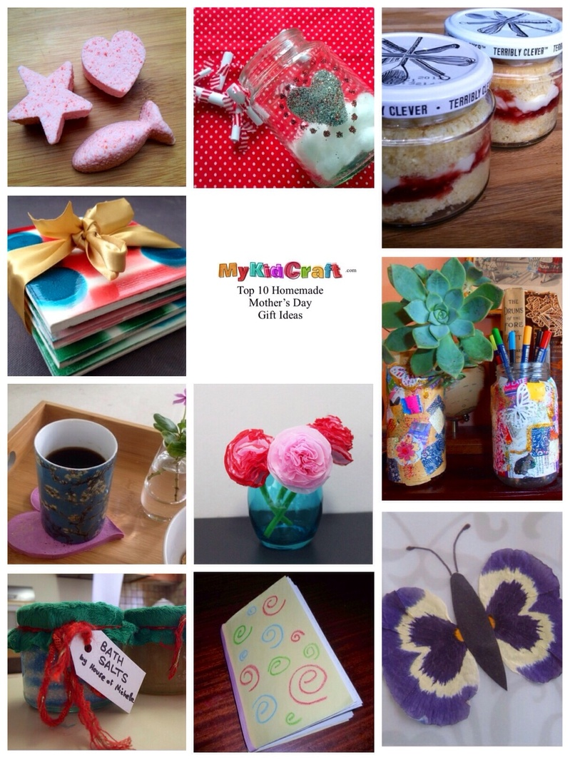 Top10 Mother's Day ideas, kids craft Mother's Day, Mother's Day homemade ideas, preschoolers Mother's Day, kids craft Mother's Day, things to make for mothers day  -   Top 10 Homemade Mothers Day Gift Ideas