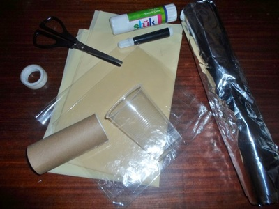 torch craft activity materials