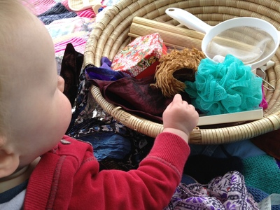 treasure basket, baby, sensory, development