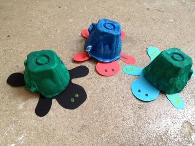 turtle, egg box, craft, pre school, under 5s, animal, creature