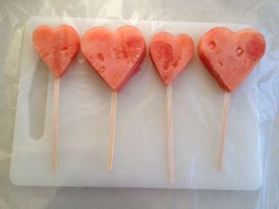 watermelon pops, frozen watermelon, frozen watermelon pops, watermelon lolly, kids summer treat, kids popsicle, watermelon popsicle