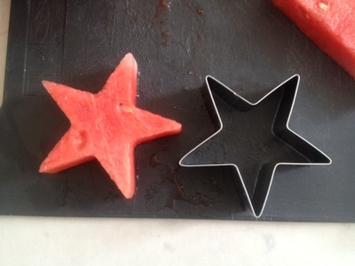 watermelon stars cookie cutter shape