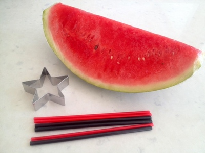watermelon wands, punching star shape watermelon, watermelon shapes cookie cutter, star watermelon, toddler fun fruit