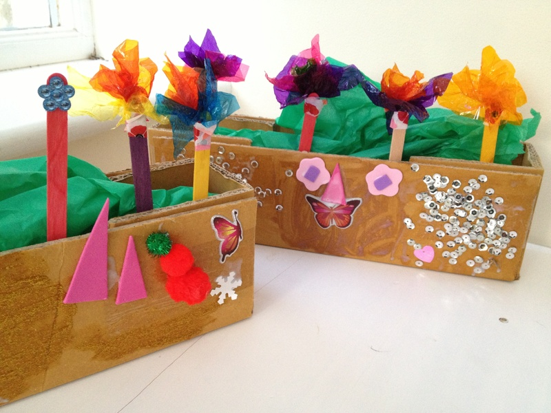 Window box, recycled, kids, summer  - Window Boxes