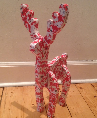 Wrapping paper reindeer